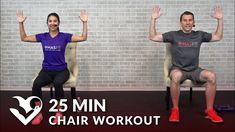 25 Min Chair Exercises Sitting Down Workout HASfit Free Full Length Workout Videos and Fitness Programs Chair Exercises, Stretching Exercises, Aerobic Exercises, Sit Down Exercises, Sciatica Exercises, Core Exercises, Hiit, Gym Workouts, At Home Workouts