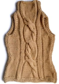 Beige wool knit Cable Vest Women shirt Sleeveless Hand knitted Chunky vest Women clothes Gift for her Beige Sweater, Knit Shirt, Sleeveless Shirt, Cable Knit, Hand Knitting, Knitwear, Vest, Wool, Clothes For Women