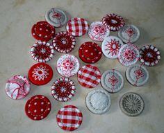 handgemachte Singleton- und Dorset Buttons