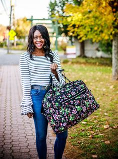 Vera Bradley | Winter Berry | Iconic Grand Weekender | The Weekender Collection