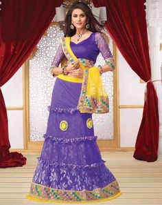 Ethnic Glam Lehenga purpleyellowholly9504C