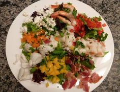 Seafood Cobb Salad - shrimp, lobster and crab!