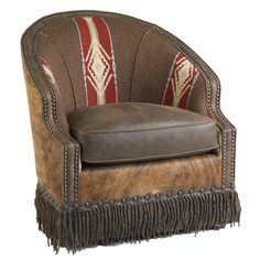 swivel barrel chair