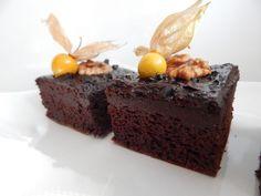 Čokoládový brownie z tofu Cake Recipes, Dessert Recipes, Tofu, Zucchini, Sweet Tooth, Cheesecake, Deserts, Vegetarian, Sweets