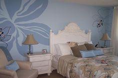 Blue Theme Bedroom Wall Murals