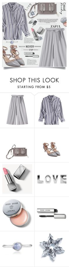 """Zaful III/18"" by lillili25 ❤ liked on Polyvore featuring Burberry, Bobbi Brown Cosmetics, Monica Vinader and Sur La Table"