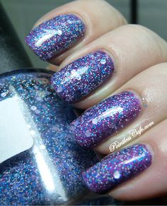 Dandy Nails - Float On (layered over purple)
