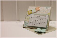 Minikalender, Sale-A-Bration 2014, Calendar, Easelcard, Flowershop, Fähnchenfieber