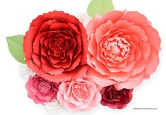 Free paper flower templates.