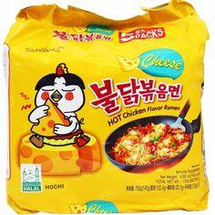 Samyang Cheese Hot Chicken Ramen Korean Stir-Fried Noodle Oz (Pack of Cheese Ramen, Cheese Noodles, Frozen Dumplings, Korean Noodles, Frozen Seafood, Korean Fried Chicken, Chicken Flavors, Food Staples, Spicy