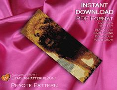 Peyote Pattern Bracelet Cuff Beading Miyuki Delica Size 11 Beads - PDF Download - Lions Roar