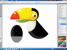 Illustrating drawing painting - cartoon Toucan Jak namalować tukana