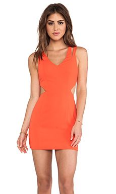 Jay Godfrey Tipton Dress in Tangerine