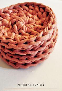MARJA Äimänkäki chunky crochet coasters set (4) via Äimänkäki. Click on the image to see more!