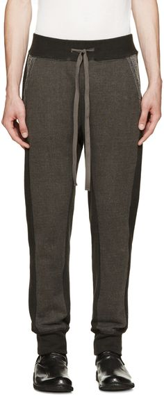 e6d25ec96b542 Diet Butcher Slim Skin Grey Cotton Wool Lounge Pants Spodnie