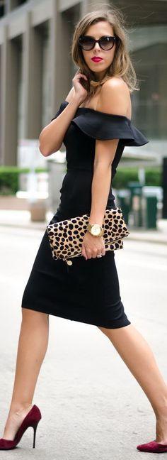 75d5eb11d281 Black Midi Dress Lil Black Dress