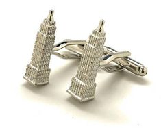 Empire State Building #NYC Sterling Silver #cufflinks #menswear