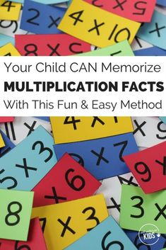Is your child struggling to learn multiplication math facts quickly? This method really works! Even for students who have been struggling to learn their math facts for years. Learning Multiplication Facts, Math Facts, Teaching Math, Math Fractions, Teaching Ideas, Math For Kids, Fun Math, Math Resources, Math Activities