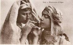 Anonymous, Moorish Women of Algiers. Photo post card, collection of Malek Alloula.