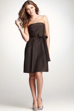 Silk Taffeta Strapless Bustier Bridesmaid Dress