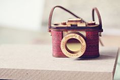 OMG! I freaking love this!!! 3D Wood and Leather Camera Necklace Aztec Red by StrangelyYours, $45.00