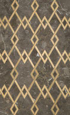 Zurich Petite Water Jet Mosaic by Mosaïque Surface. Through Renaissance Tile and Bath.