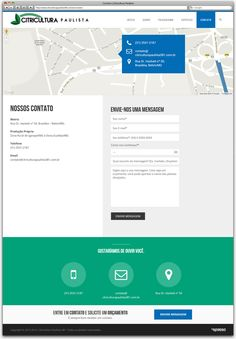 Criação de Site Responsivo para a floricultura Citricultura Paulista de Betim - página contato