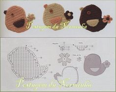 Bird Applique - Free Crochet Chart