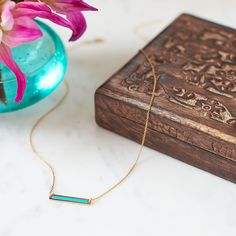 We're excited to be carrying celeb designer Samantha Wills' jewelry! Her delicate necklaces even come in hand-carved wooden boxes.