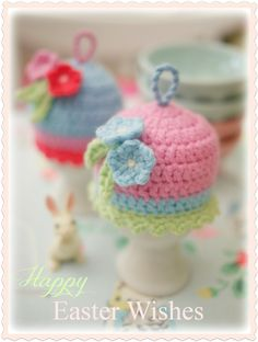 Mary Jane's TEAROOM: ♥ Happy Easter...How precious are these little egg cozies?!