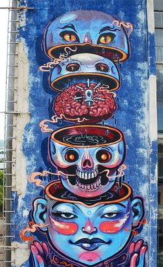 "Street art | Mural ""Street Anatomy"" by NYCHOS"