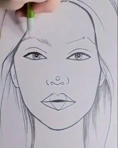 Cool Pencil Drawings, Art Drawings For Kids, Art Drawings Sketches Simple, Colorful Drawings, 3d Art Drawing, Drawing Eyes, Manga Drawing, Simple Face Drawing, Girl Drawing Easy
