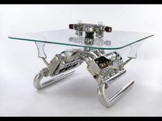 Unique Coffee Tables And Sofas Made Of Car Parts For The Man Cave