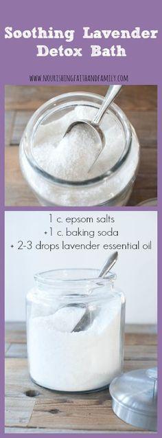 DIY Soothing lavender detox bath