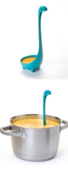 More funny kitchen gadgets at: coolkitchengadget… - - Loch Ness Ladle! More funny kitchen gadgets Kitchen Ikea, Kitchen Tools, Kitchen Gadgets, Kitchen Utensils, Kitchen Products, Cooking Utensils, Kitchen Stuff, Cooking Ware, Crazy Kitchen