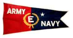 Abacrome Inc. Army-Navy E Flag, 1942. Wool, cotton, metal grommets. New-York Historical Society, Gift of the Sperry Gyroscope Co., Inc. Total War, Army & Navy, Historical Society, World War Two, Sperry, Wwii, New York City, Flag, New York