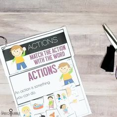 Help students start to building their fundamental language skills in a hands on way. My Interactive Bundle contains activities for receptively matching actions and their text labels, objects and their illustrated functions, object with related objects, and object to categories! 