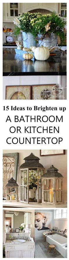 Countertop Woes? Give 'em a lift! Are you as tired of dirty black snow and grey skies as I am? Check around your house for some long forgotten piece of…..stuff, that you can add one or 2 other pi...