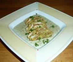 Rezept Rahmschwammerl mit Serviettenknödel von Theresalistl - Rezept der Kategorie Hauptgerichte mit Gemüse