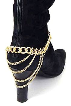 KARMAS CANVAS LAYERED CHAIN BOOTS CHAIN ANKLET -- You can find out more details at the link of the image.