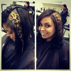 Leopard/cheetah hair streak.  By Annmaries Hair On Madison.