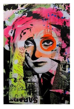 Pink Eye Graffiti Art.  Kinda like 'Pink Eye on my Leg' by my favorite, Ween.  Or like Bette Davis eyes.  :)