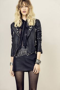 A bit of Rock & Roll | New Season Of Essentials | Skirts | Winter | Fasion | Leather