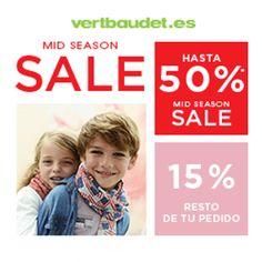 Aprovecha esta promoción y compra ropa de temporada con un 50% de descuento en Vertbaudet y, además, el 15% de descuento adicional en el resto de pedidos