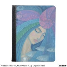 Mermaid Princess, Underwater Fantasy, Pink Blue iPad Case