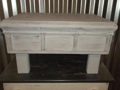 Check out this item in my Etsy shop https://www.etsy.com/listing/504981043/vintage-step-stool-shabby-chic-wood-foot