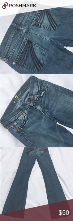 "7 for all mankind Very slight wear towards bottom backs but other then that like new 32"" long 7 for all Mankind Jeans"