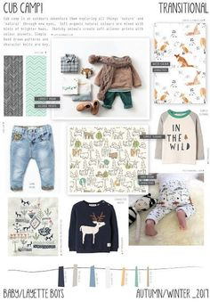 Cub camp is an baby boys layette trend inspired but exploring the great outdoors, camping and surviving in the autumn time. Style Outfits, Boy Outfits, Swag Style, Aw17 Trends, Style Hipster, Baby Layette, Fashion Forecasting, Winter Trends, Kids Prints