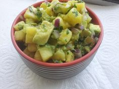 Fresh Pineapple Avocado Mexican Salsa Recipe; Delicious, Healthy and Vegan from Homemade Levity