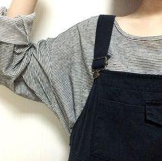 stripes + overalls